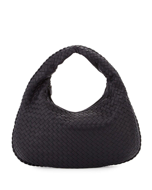 Bottega Veneta Intrecciato Medium Hobo Bag Dark Navy  fashionbag ... 721b07127c785
