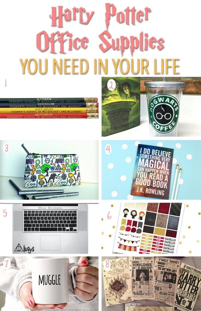 Harry Potter Themed Office Supplies! Perfect For School And College! Book  Nerds And Potterheads Alike Will Need All Of These!