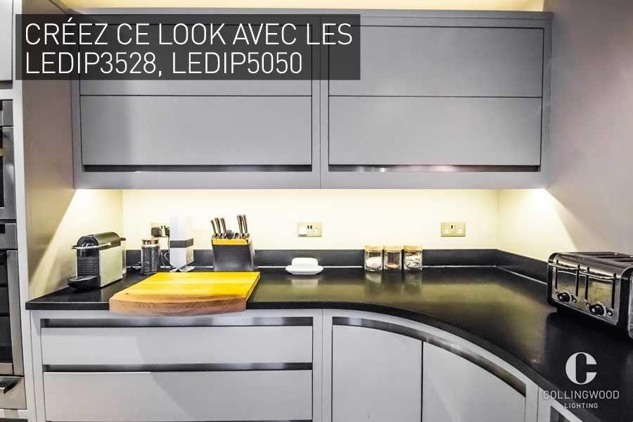 Ajouter des rubans LED sous les meubles de cuisine pour apporter un