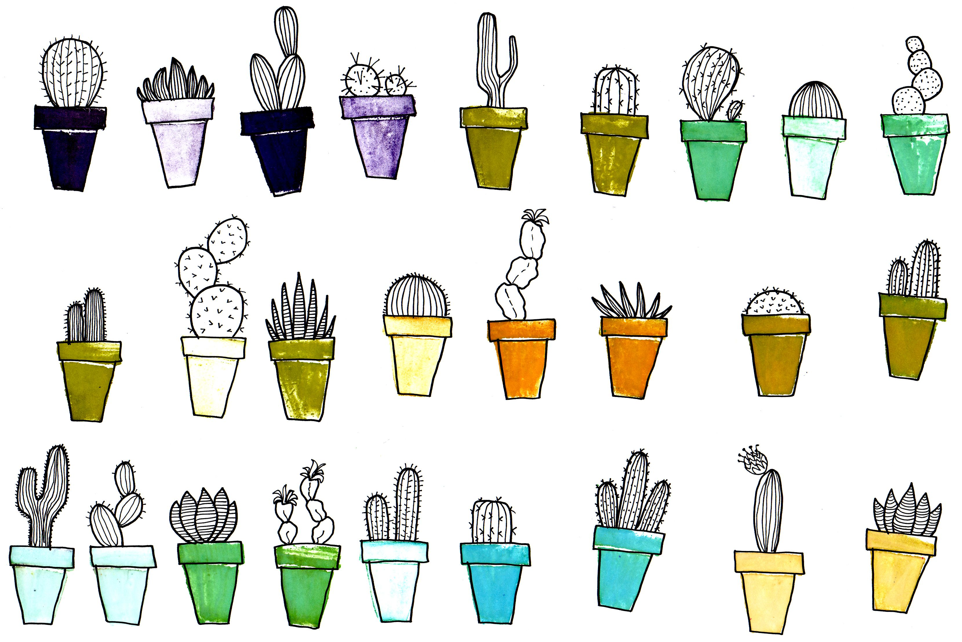 Images For > Cactus Drawing Tumblr | cacti | Pinterest ...
