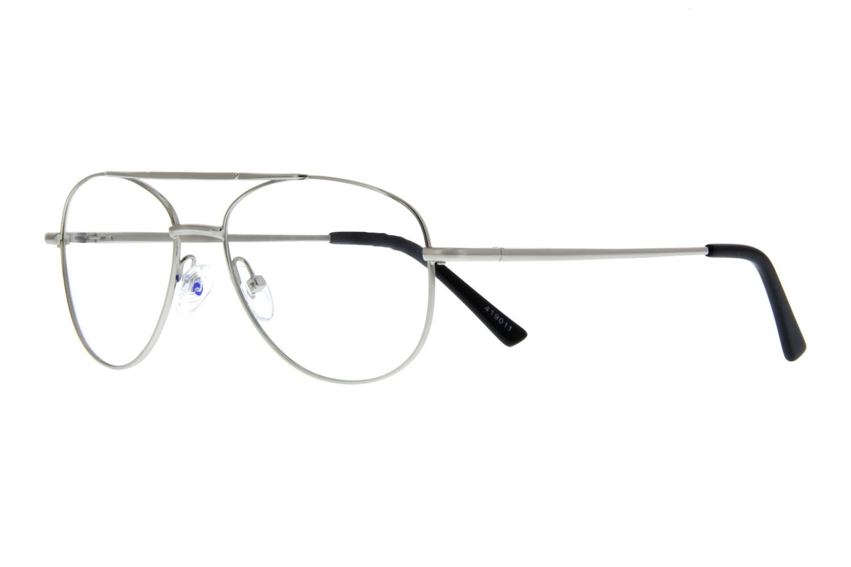 a1ae7e55ac Zenni Aviator Prescription Eyeglasses Silver Stainless Steel 419011 ...