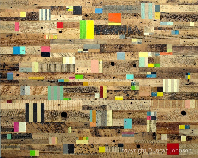 Color Code Wood Art Design Reclaimed Wood Art Scrap Wood Art