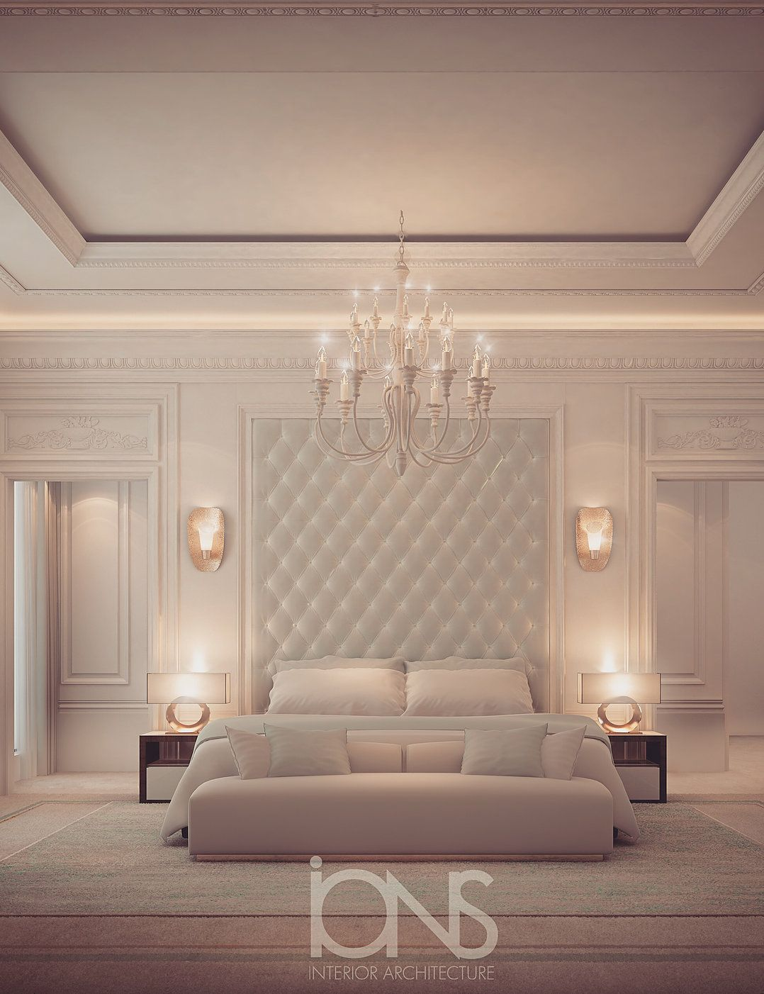 bedroom design - dubai villa interior design | Bed room in ...