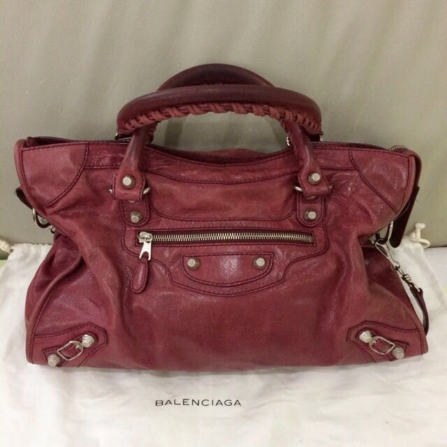 1c1e5c67d0 Balenciaga Giant City Bag In Maroon on Carousell