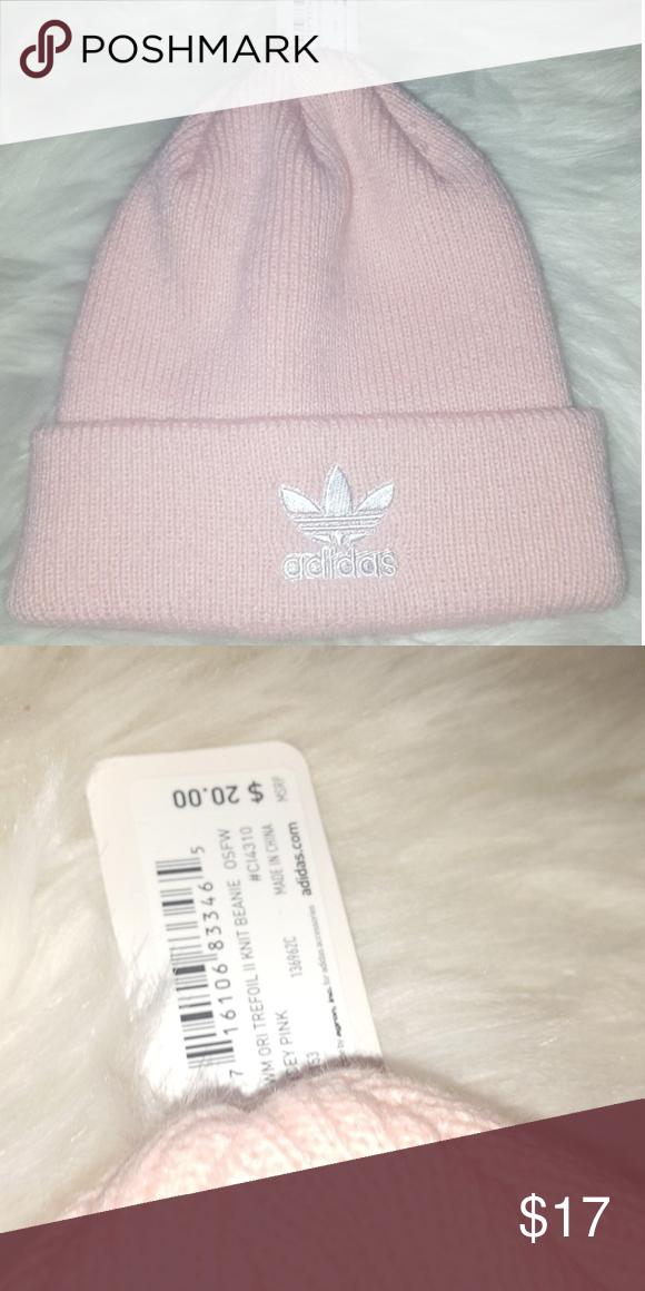 516f2356b73 Pink adidas beanie NWT adidas Accessories Hats