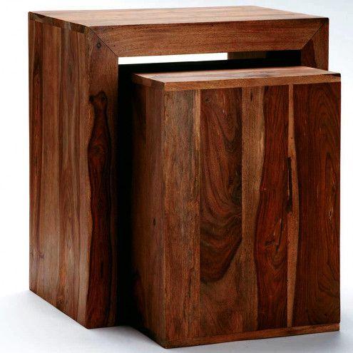 Sheesham Wood Nested Cube Table Vivaterra Sheesham Wood Cube Table Table