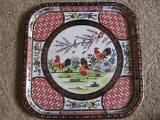 Daher Decorated Ware Tray Made In England Magnificent Daher Decorated Ware Square Vintage Metal Tray Made In England Inspiration Design