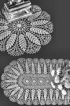 Ripe Wheat Doily Table Runner Vintage Crochet Pattern For Download