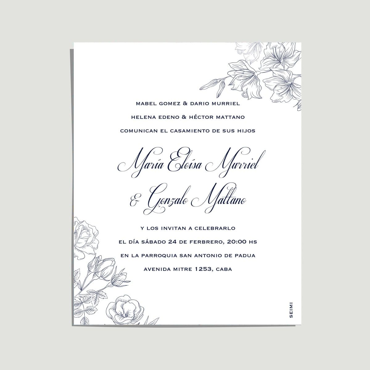 Invitación De Casamiento Modelo Roses Formal Y Divina A La