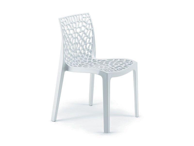 sedia in polipropilene, sedia impilabile, sedia contract 1532