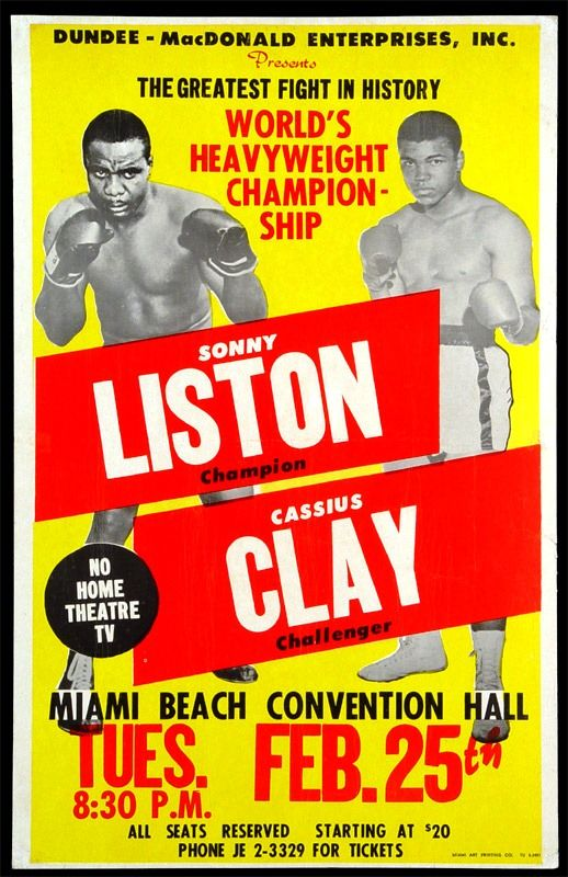 43a04093 Sonny Liston, Champion vs. Cassius Clay, Challenger