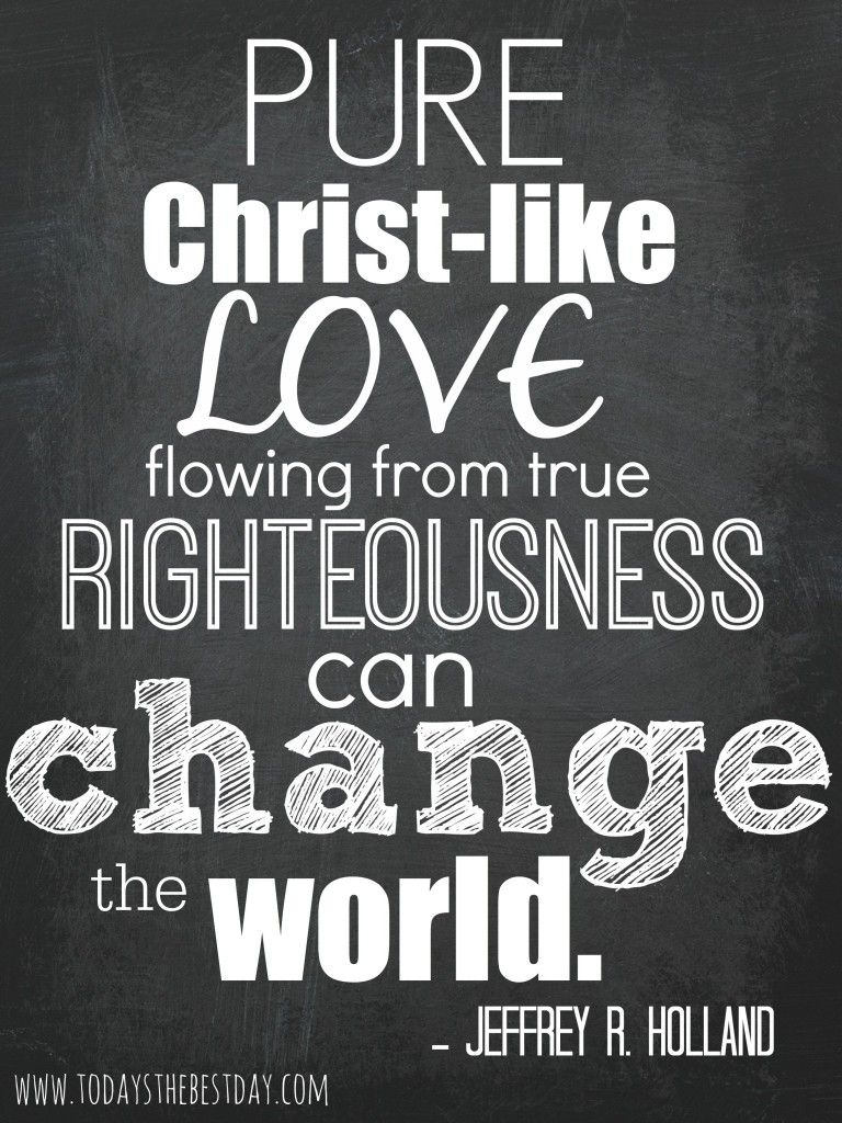 """Pure Christ Like LOVE flowing from true Righteousness can CHANGE THE WORLD "" Jeffry"