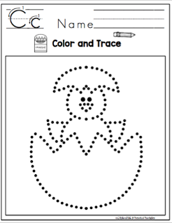 Preschool Printables: Easter Tracing Pages