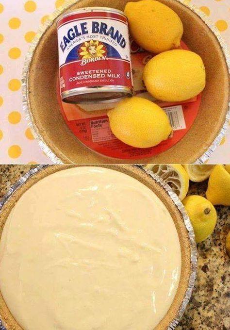 No Bake Lemon Pie At Home With My Honey Recipe No Bake Lemon Pie Lemon Recipes Milk Recipes