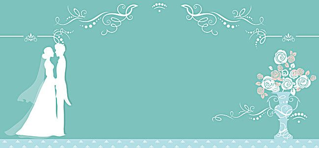 Wedding Invitation Card Background: Blue Wedding Invitation Card Vector Background