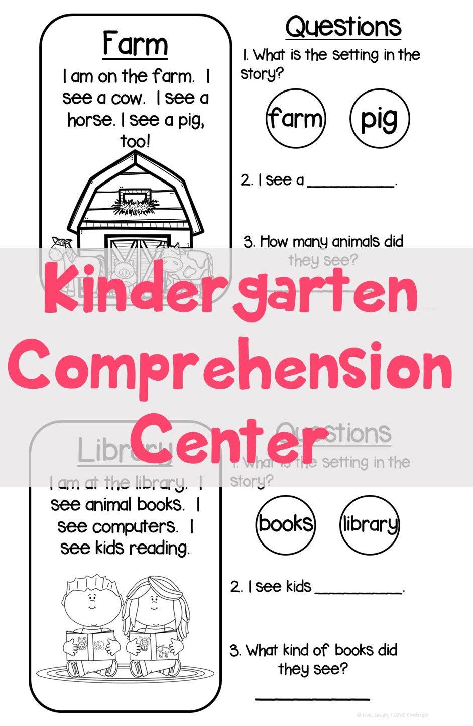 - Kindergarten Comprehension {Setting} Short Passage