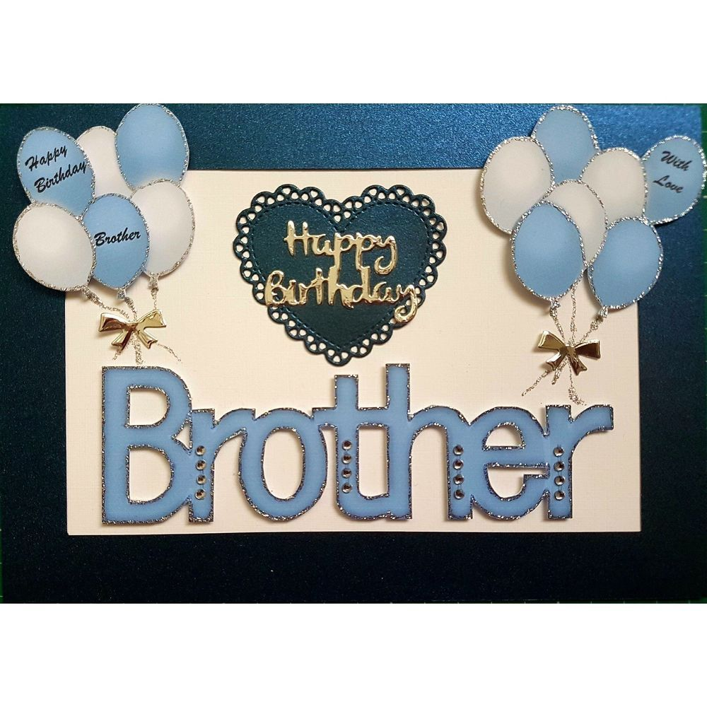 Handmade in UK Luxury Brother Happy Birthday Card (With