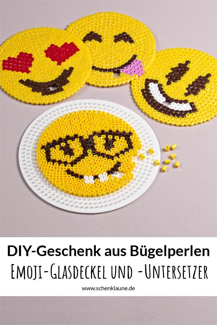 EmojiGlascover und Untersetzer DIY  SchenkLaune Geschenkideen  Bgelperlen Bgelperlen