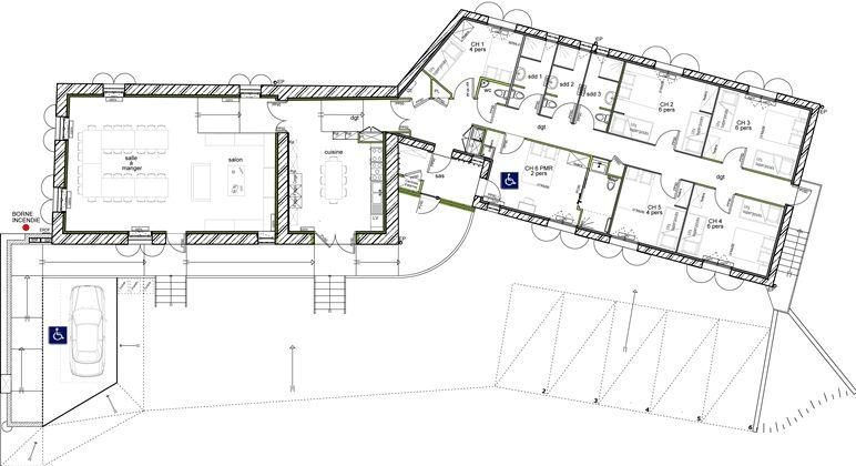 plan maison 5 chambres plain pied Maison tôle et bois Pinterest - plan maison  plain pied