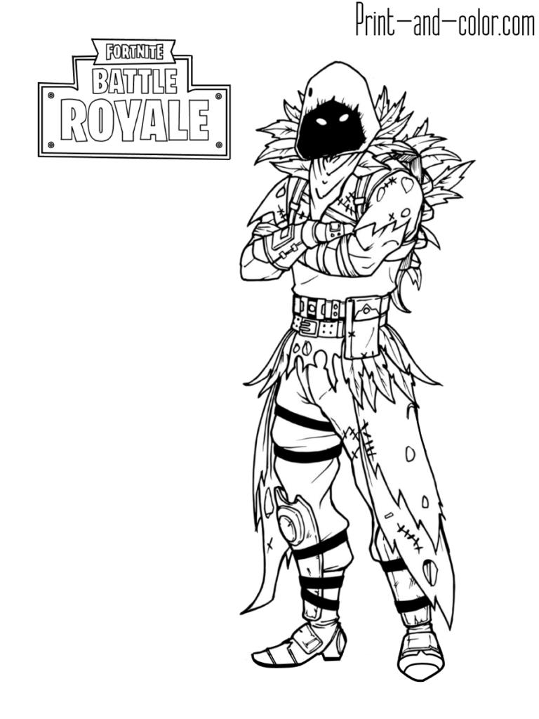 Fortnite Battle Royale Coloring Page Raven Coloring Pages For Boys Coloring Pages To Print Free Kids Coloring Pages