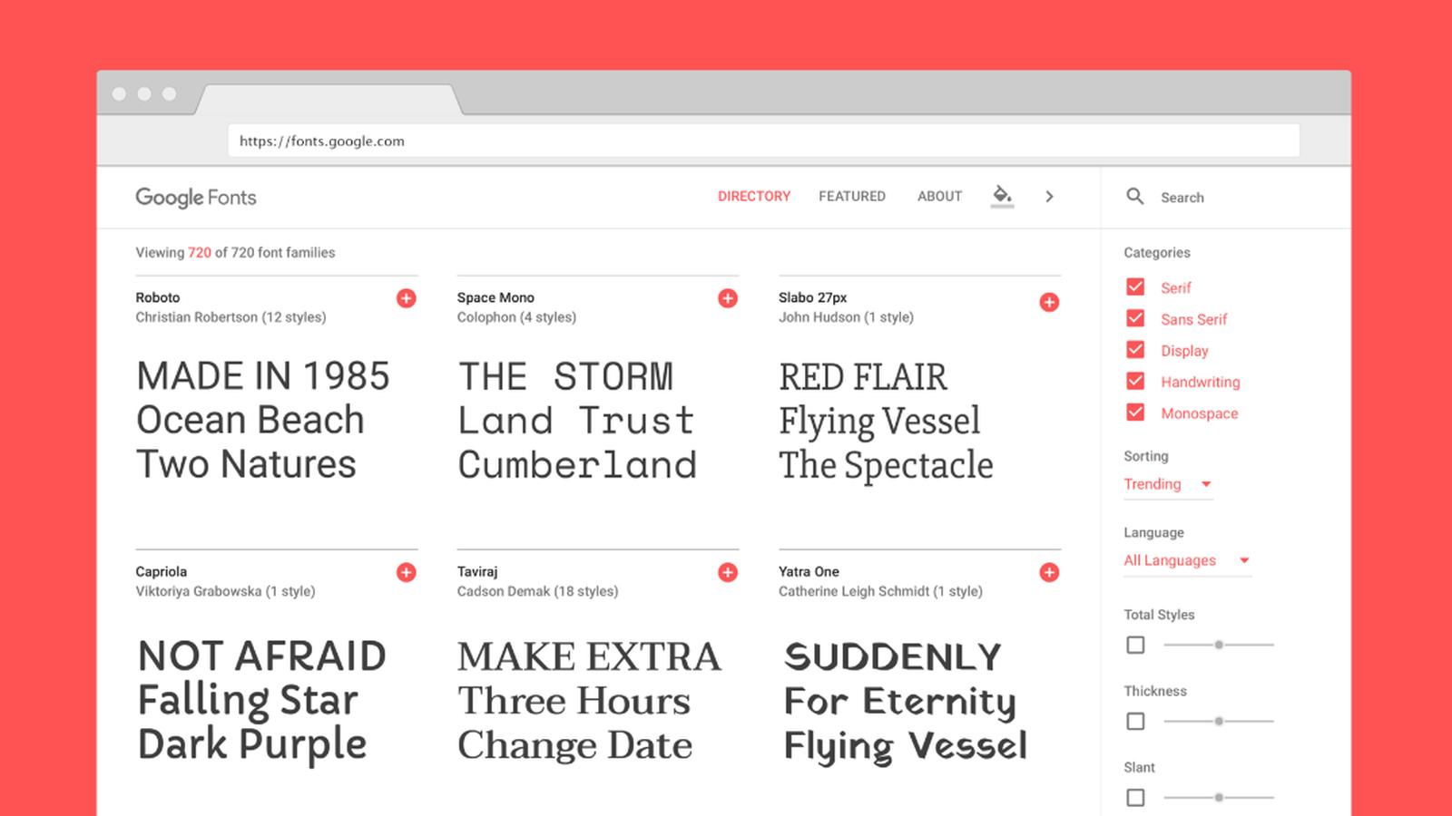The New Google Fonts Database Is A Design Geek S Paradise Geek Design Open Source Fonts Google Fonts