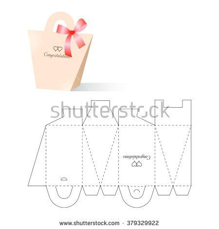 Retail Box With Blueprint Template  Diy Bags  Boxes  Mk