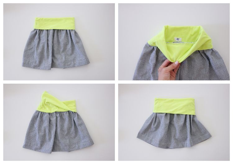 Girls Basic Flexible Waist Skirt - FREE PATTERN | ...sewing for ...