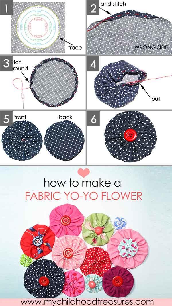 3 Easy Diy Storage Ideas For Small Kitchen: How To Make Fabric Yo Yos