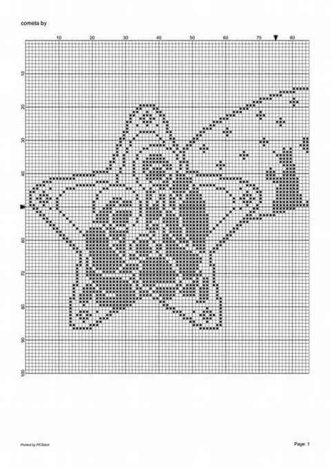 Schema+su+carta+a+quadretti+per+realizzare+la+stella+cometa+ ...