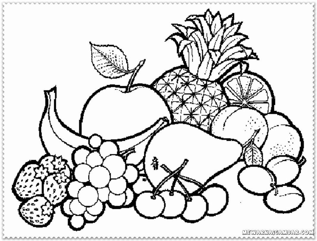 Pictures For Coloring Fruits Di 2020 Dengan Gambar Halaman