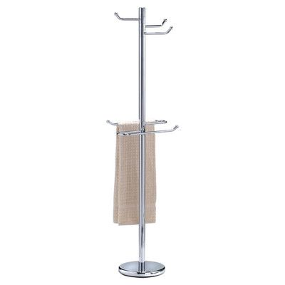 Wildon Home  Robe Free Standing Towel Stand Finish: Chrome