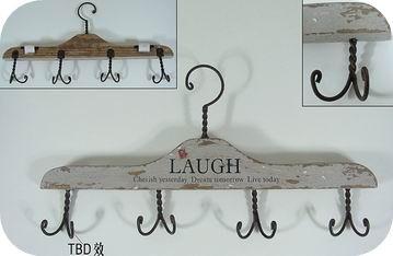 Repurposed wood hangers