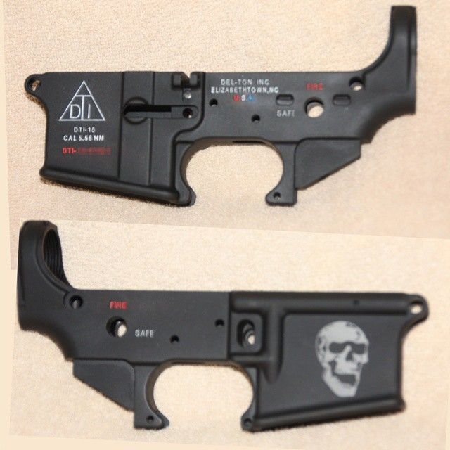 My Del-Ton  AR-15 stripped lower receiver color-filled with laser engraving #AR15 #AR15 lower