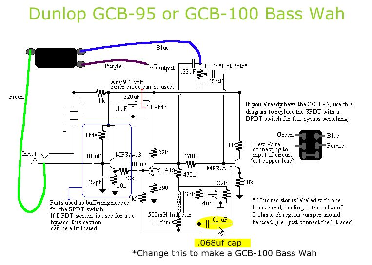 gcb 95 to gcb 100 bass crybaby wah conversion pedal tech rh pinterest com