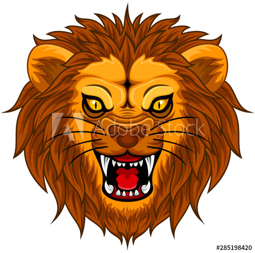 Angry Lion Face Illustration Mascot Buy This Stock Vector And Explore Similar Vectors At Adobe Stock Adobe Stock Face Illustration Lion Face Illustration