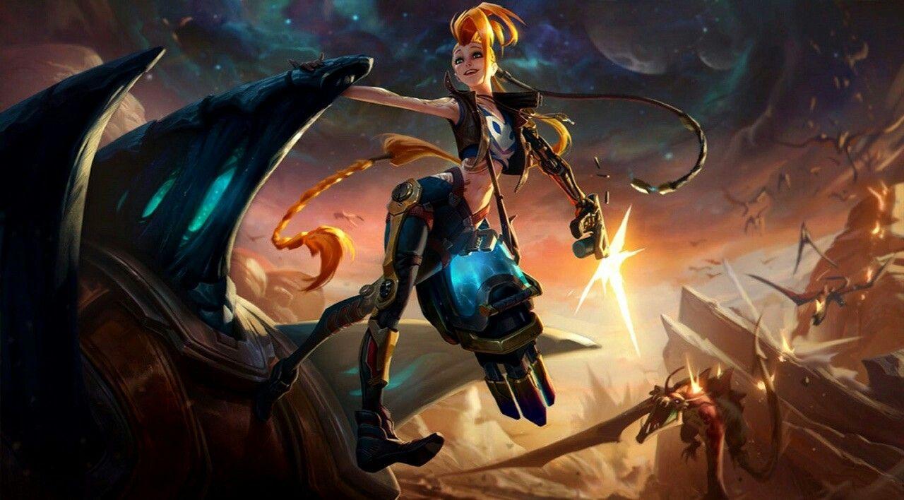 Odyssey Jinx Splash Art In 2019 Jinx League Of Legends
