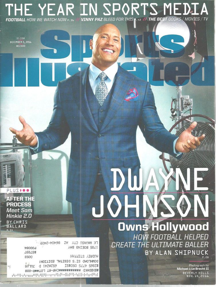 Sports illustrated magazine dwayne johnson december 5 2016 owns sports illustrated magazine dwayne johnson december 5 2016 owns hollywood doesnotapply m4hsunfo