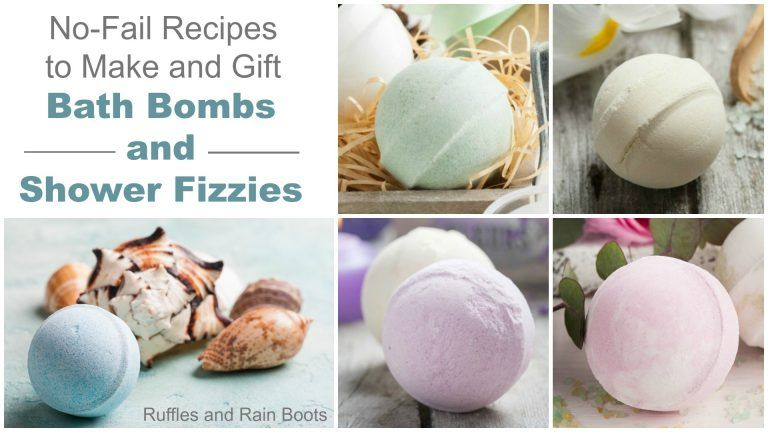 Bath bombs and shower fizzies nofail recipes shower