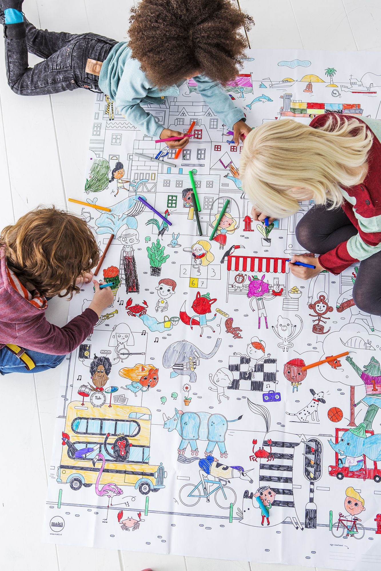 Grote Kleurplaat Makii Stad Littlelovedones Kleurplaten Kinderfeestje Stad