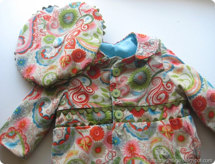 Free PDF pattern for toddler jacket (and link to the beret