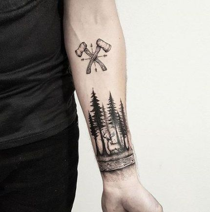 Photo of Nature Tattoo Sleeve Mountain Forests 69 Best Ideas