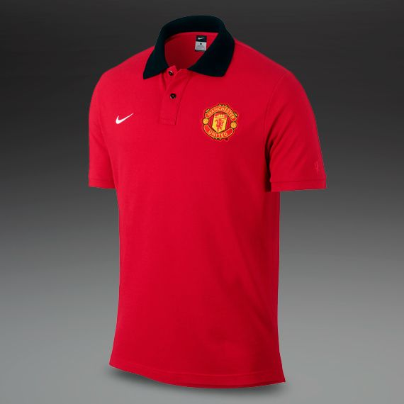 Nike Mens Clothing - Manchester United Authentic SS Grand Slam Polo -  Football - Red #