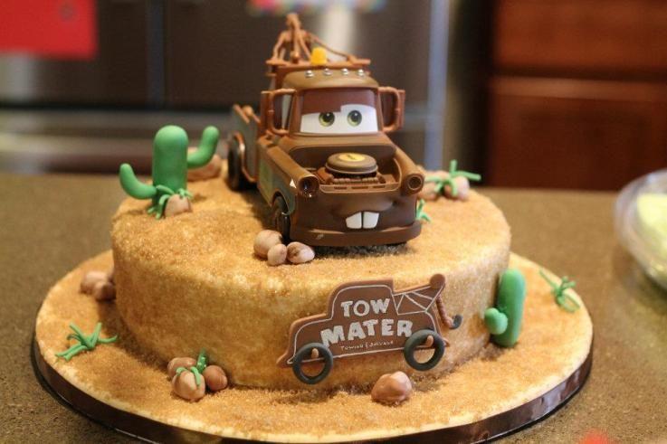 Pleasing Mater Cake Cars Birthday Cake Mater Cake Tow Mater Cake Funny Birthday Cards Online Kookostrdamsfinfo