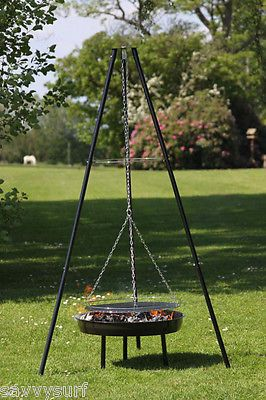 Tripod Bbq Grill Tripod Camping Cooker Adjustable Tripod With Grill Tripod Bbq Ebay Camping Cooker Fire Bowls Campfire Cooking