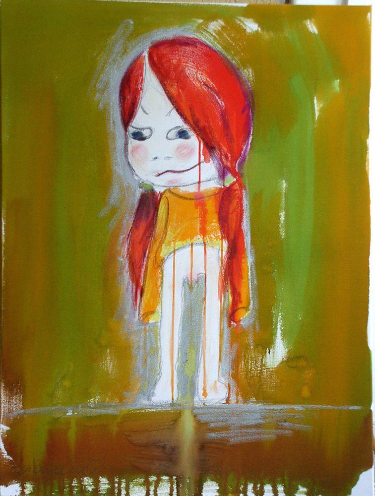 A.Bolzer, Manga, Mischtechnik, painting, OOAK , girl, child, Yuki,50x70