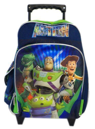 7593fe90728f Small Toy Story Rolling Backpack - Disney Kids Luggage with Wheels ...
