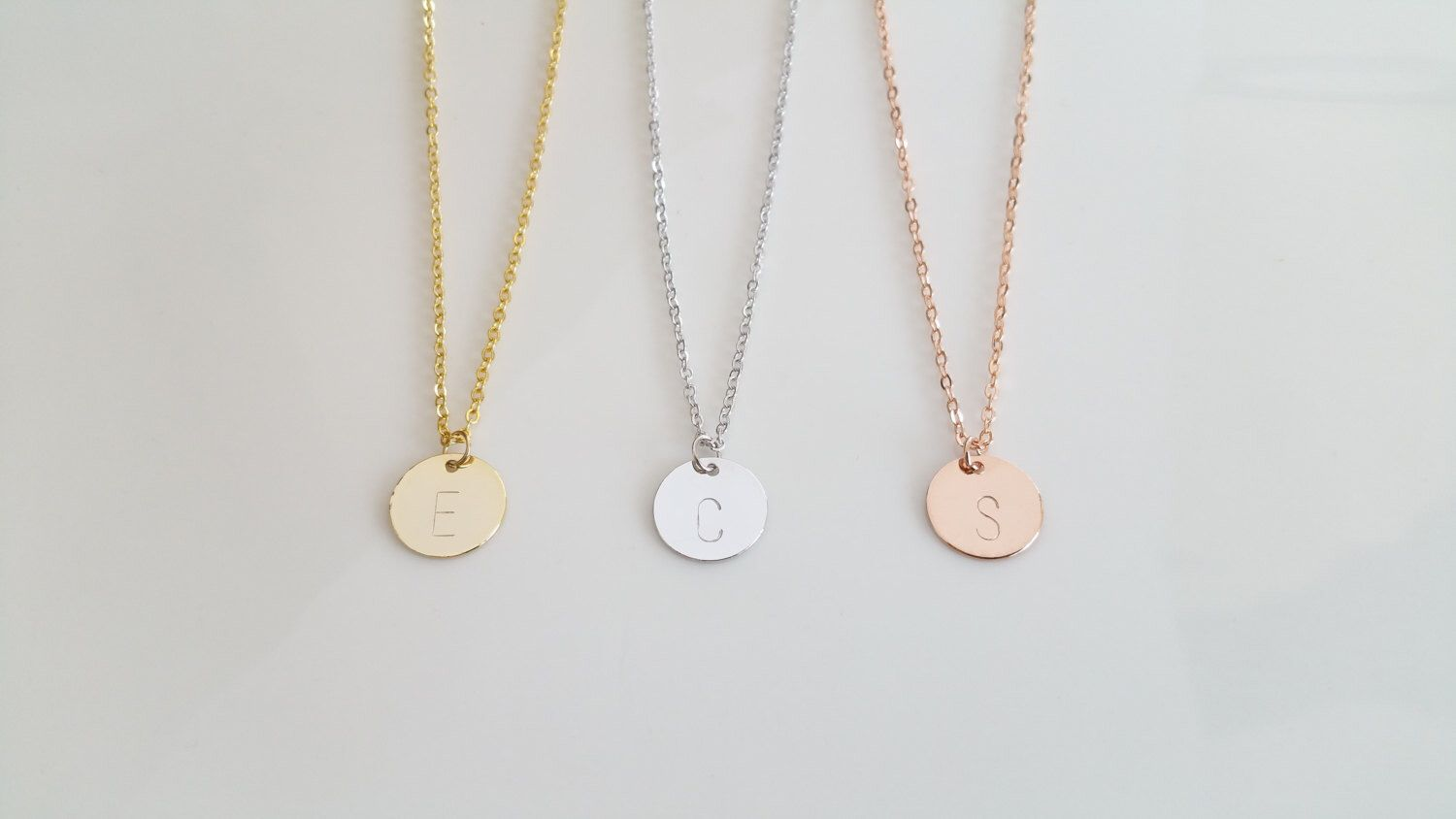 Disc initial necklace dainty disc necklace gold initial necklace disc initial necklace dainty disc necklace gold initial necklace monogram disc charm mozeypictures Image collections