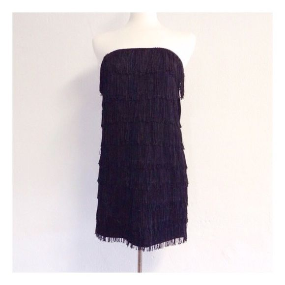 Black fringe dress NWT | Fringe dress