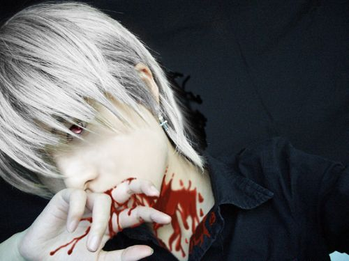 Zero cosplay from Vampire Knight.