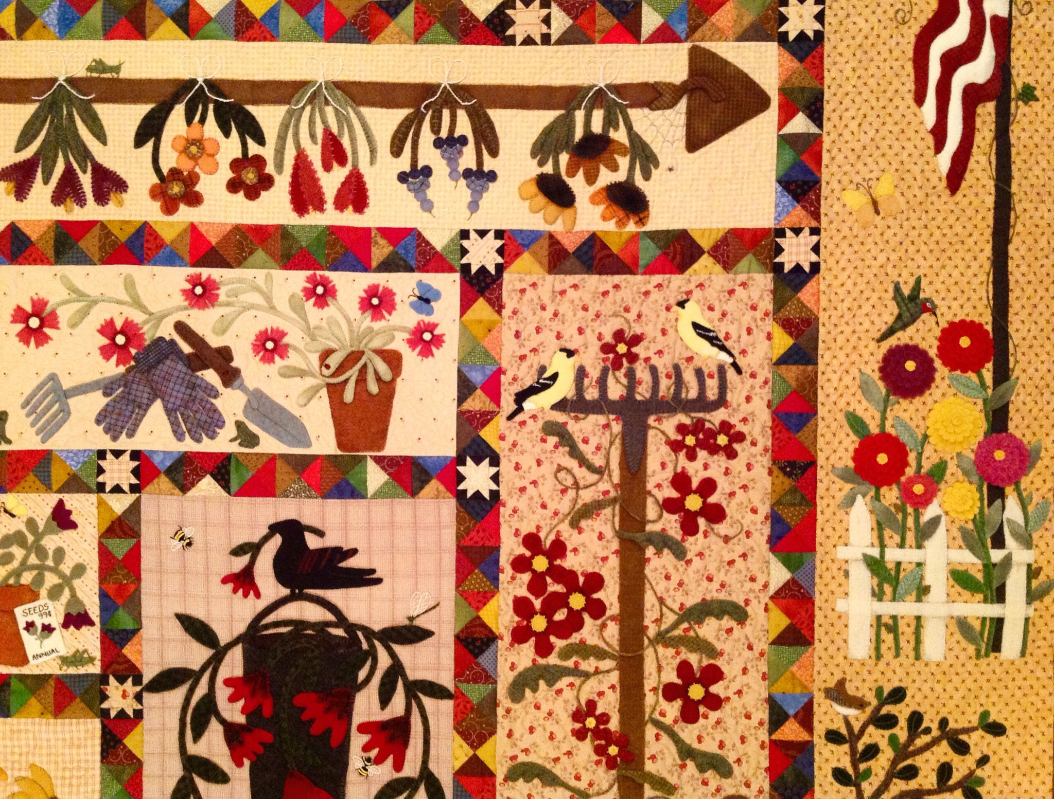 Close up of the adaptation of Primitive Gatherings pattern A ...